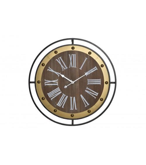 Reloj Pared Metal Negro