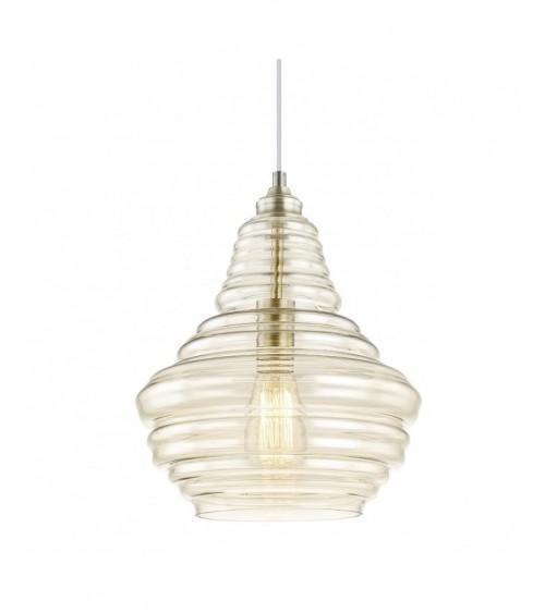 Lámpara de Techo Macao de Cristal Cuero