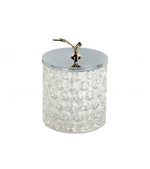 Caja de Vidrio Tapa Metal