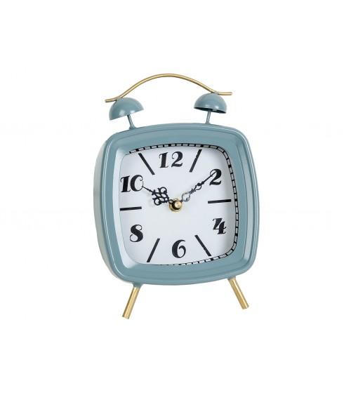 Reloj Sobremesa Metal Azul