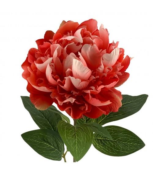Flor Artificial Peonia Coral