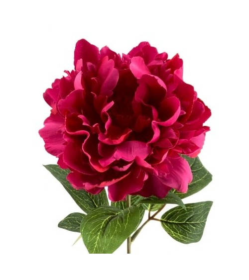 Flor Artificial Peonia Magenta