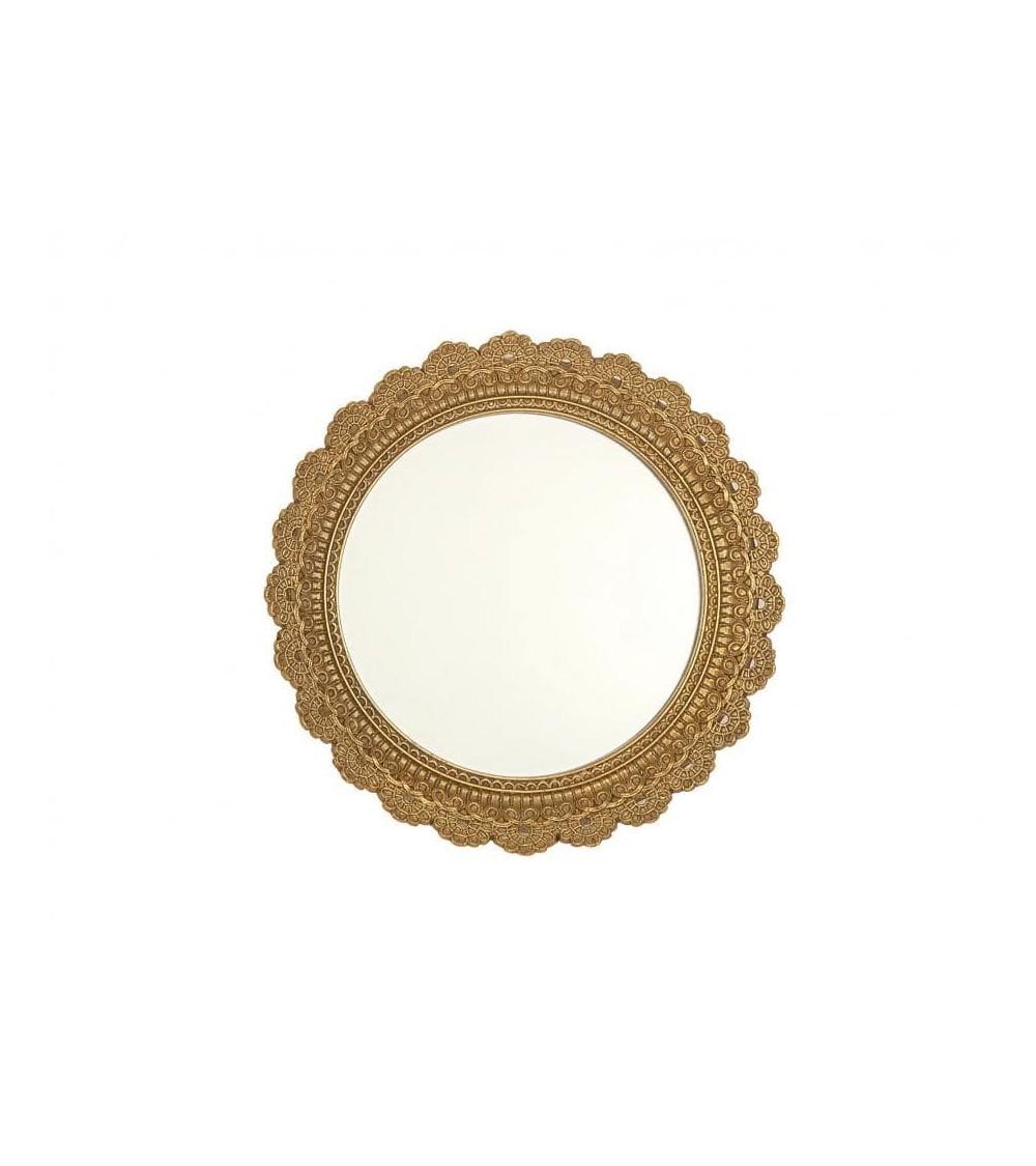 Espejo Redondo Dorado