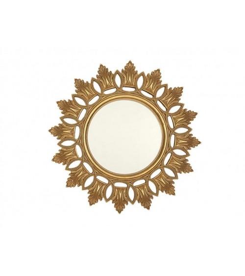 Espejo Pared de Resina Dorado