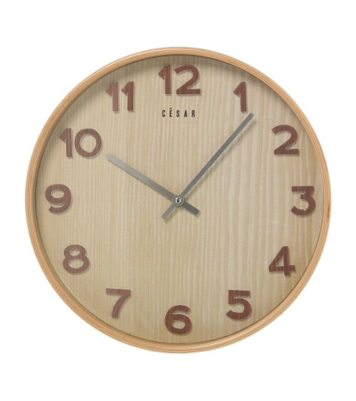 Reloj de Madera Color Haya