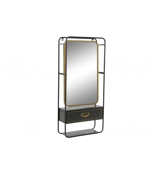Espejo de Metal con 1 Cajón