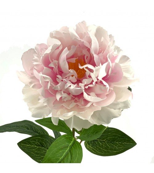 Flor Peonia Rosa Artificial