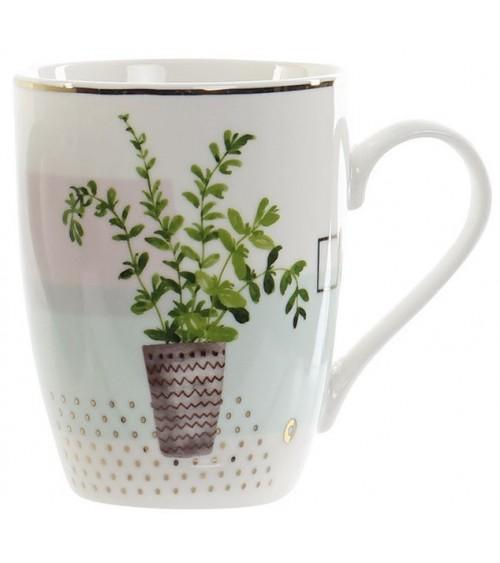 Taza Planta de Porcelana