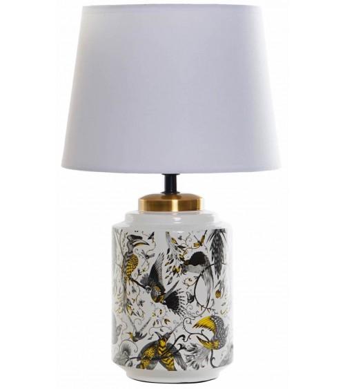 Lámpara de Sobremesa C/Pantalla Blanca