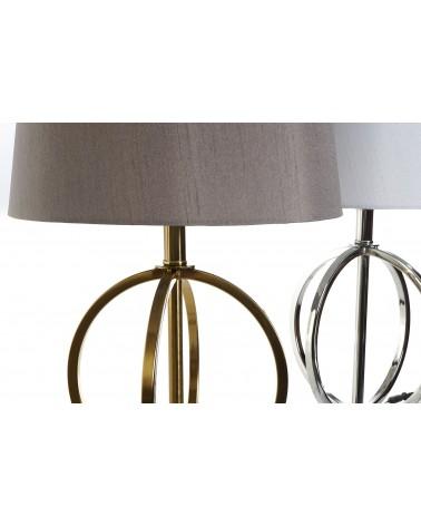 Lámpara de Mesa de Metal Dorado o Plata