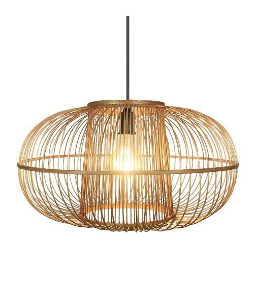Lámpara de Techo Redonda de Bambú
