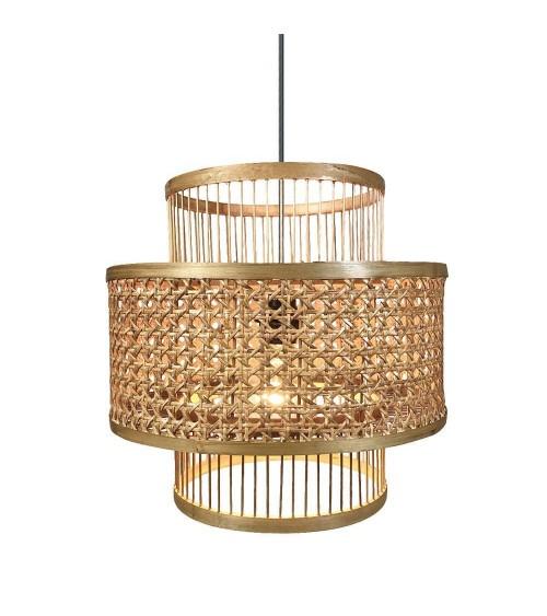 Lámpara de Techo de Bambú y Ratán