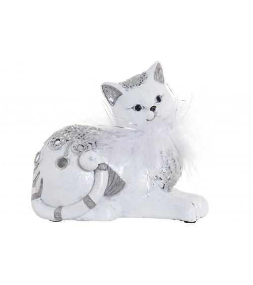 Figura Gato de Resina Blanco