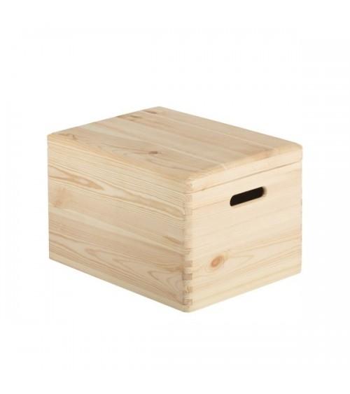 Caja de Madera Natural C/Tapa