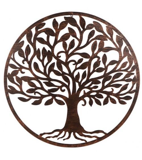 Árbol de la Vida Negro con Patina Cobre